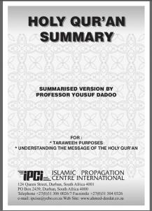 Tarawih Summary